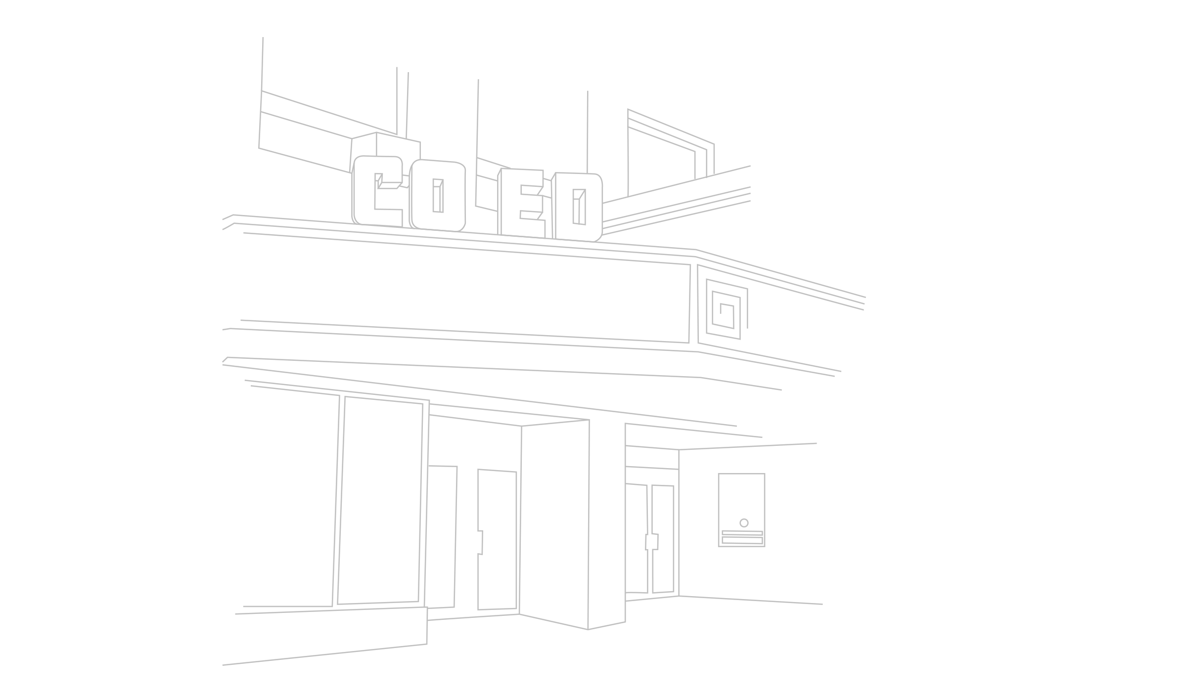 Line Drawing of Green Street